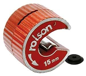Rolson Tools 22406 - Cortatubos de cobre con cuchilla de repuesto (15 mm)