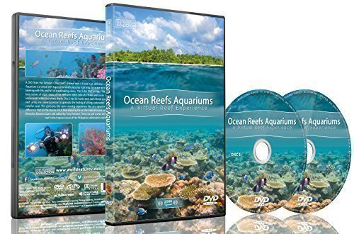 Nature and Oceans Dvd - 2 DVD Set Ocean Reef Aquarium - A Relaxing Virtual Experience In Underwater World (Dvd Background Aquarium)