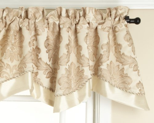 Style Master Renaissance Home Fashion Darby Layered Scalloped Valance Cording, Ivory, 50 (Layered Scalloped Valance)