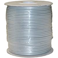 CableWholesales Bulk Phone Cord, Silver Satin, 28/4 (28 AWG 4 Conductor), Spool, 1000 foot