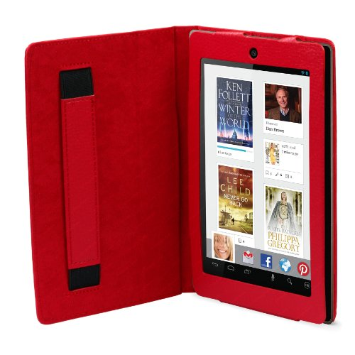 Kobo Arc 7 HD Case - Red Professional Portfolio PU Leather Magnetic Closure Cover Stand by Stuff4®