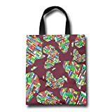Africa Flag Colortone Shopping Bags Reusable Gift Grocery Tote Grocery Bags