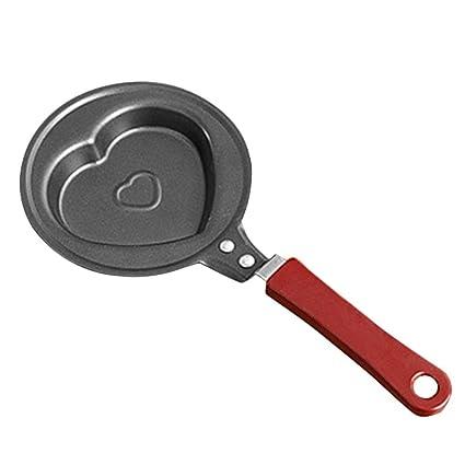 Erduo Utensilios de Cocina de Cocina Antiadherente de tamaño pequeño Huevo Cacerola de Cocina al Aire