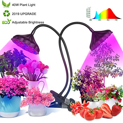 Grow Light for Indoor Plants,40W Led Grow Light Lotus Light,Plant Grow Light 42 Bulbs,Full Spectrum Grow Light Auto On Off 3/6/12H,Growing Light for Veg&Flower Seedling Growing Blooming Fruiting (B)