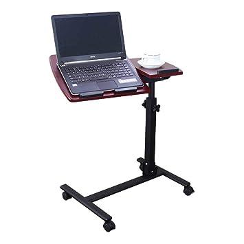 CCJW Mesa Plegable Compact Escritorio portátil del Negocio del Escritorio del Soporte del Ordenador portátil con el cojín de ratón Ajustable Altura 360 ...