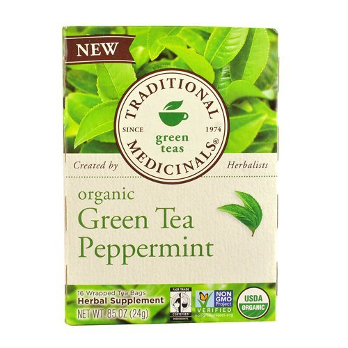 Traditional Medicinals Organic Tea Green Tea Peppermint 16 tea bags (a) - 2PC Traditional Medicinals Teas