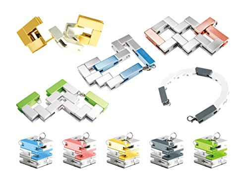 Playable ART Bracelet Cube - Wearable Art and Puzzle in One, Silver / Gold