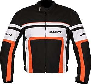 DUCHINNI Retro Motorcycle Jacket (Orange, X-Large)