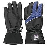 Nolan Boys Thinsulate Waterproof Winter Ski Gloves Gripper Black Blue 8-16