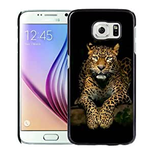 Host Sale Samsung Galaxy S6 Case ,Fashion And Durable Designed With Serious Leopard 3d Spots Illustration Wild Animal Android Wallpaper Black Samsung Galaxy S6 Cover