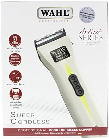 Wahl Super Cordless - Máquina cortapelos profesional con batería de litio, color blanco: Amazon.es: Salud y cuidado personal