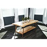 "Niangua Furniture Live Edge Hickory Rustic Coffee Table with Copper Pipe Legs - 48"" x 23"""