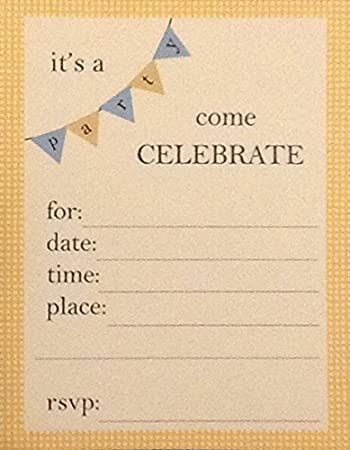 amazon com 8 party invitation inserts for date time place
