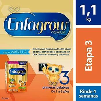 0c71fe0e8d Enfagrow 3, 1.1 kg, Leche de Crecimiento para Niños Mayores de 12 ...