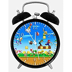 Super Mario Twin Bells Alarm Desk Clock 4 Home Office Decor W425 Nice for Gifts