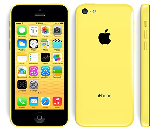 Apple iPhone 5C 8GB Unlocked Smartphone, GSM Only (AT&T/T-Mobile), Yellow (Refurbished) (Apple Iphone 5c 8 Gb Yellow Unlocked)