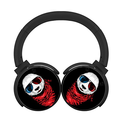 Bluetooth Headphones Computer Gaming Sleeping Headset Over Ear Earphone 3D Panda Glasses Black