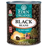 Eden Black Beans, Organic, 29-Ounce (Pack of 6)