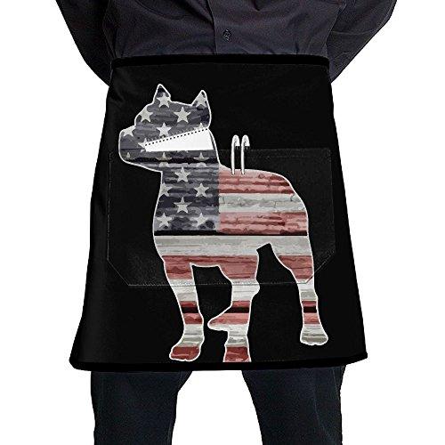 Patriotic Pitbull American Flag Oil-proof Restaurant - Pit Patriotic Bulldog