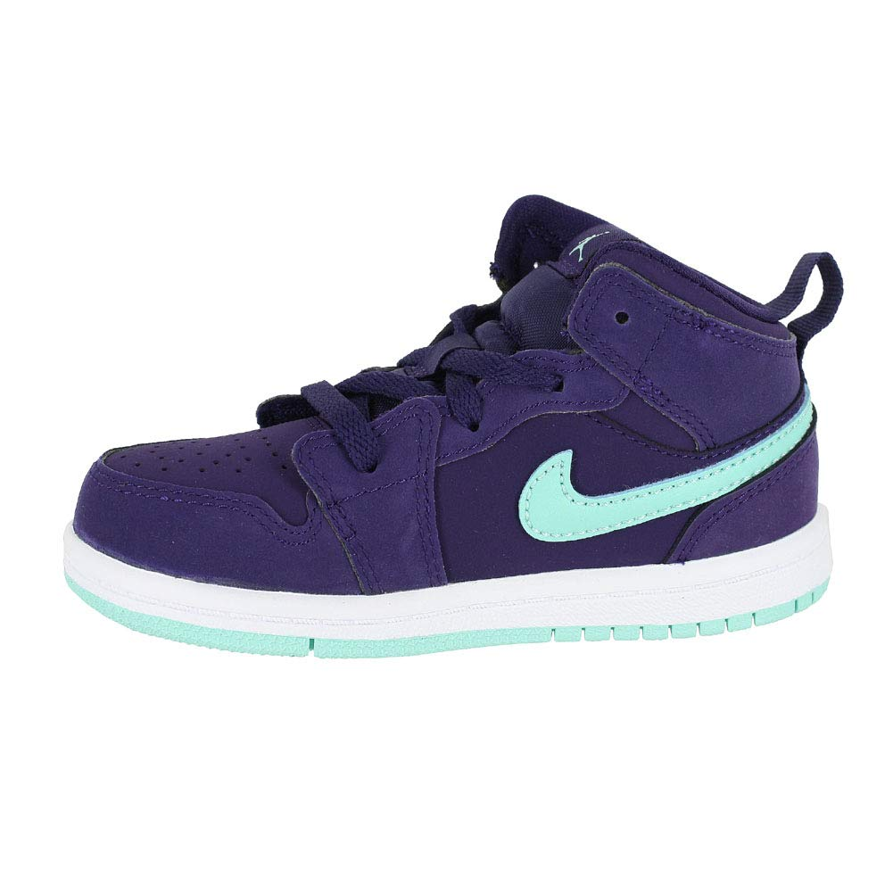 057d59a2db3b4 Amazon.com: Jordan Toddler Jordan 1 MID TD Ink Emerald Rise White ...