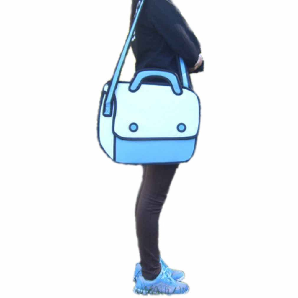 6bd849b12dbe Amazon.com  Comic Messenger Bag Cartoon Backpack 2d Drawing 3d Jump Canvas  Crossbody Bag  Beauty
