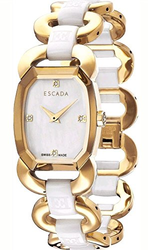 Escada Charlene E2605082 Gold Stainless Steel White Ceramic Women's Watch