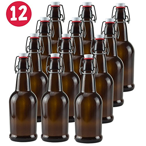 16-oz-Glass-Beer-Bottles-for-Home-Brewing-Amber-6-or-12-Pack