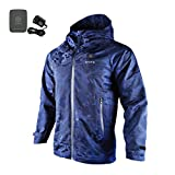 ororo Cordless Heated Jacket Hoodie Kit With Battery Pack(M,Camo Navy)