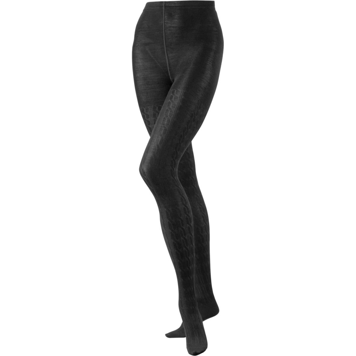 SmartWool Women's Cable Tights (Medium Gray) Small