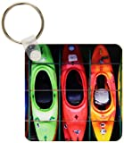 3dRose Kayak - Key Chains, 2.25 x 4.5 inches, set...