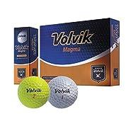Volvik Magma 3 Piece Non Usga Conforming Super Distance lllegal Golf Ball Yellow