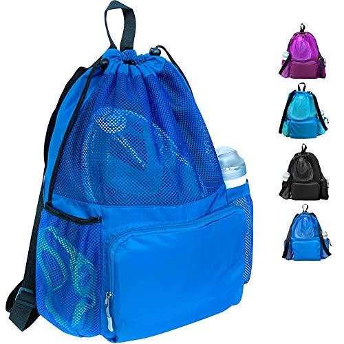 ButterFox Large Swimming Equipment Mesh Bag with Separated Waterproof Dry Compartment, Dry and Wet Separated ()
