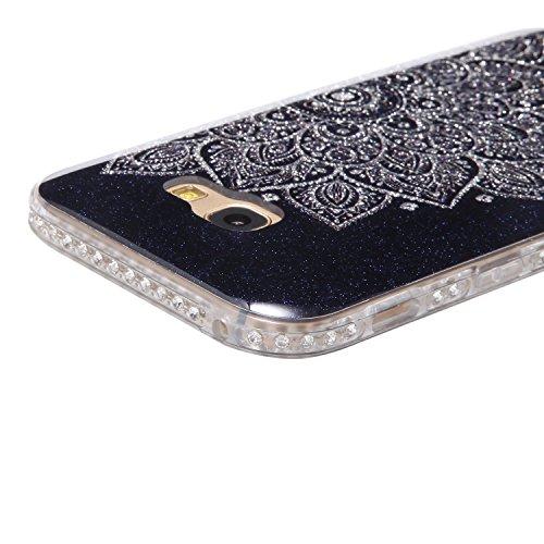 Funda Case Samsung Galaxy A5 2017 silicona,Ukayfe Ultra Delgado Flexible Suave TPU Gel Trasera Bumper Protector Carcasa Para Samsung Galaxy A5 2017,Carcasa de 360 Protección con Pintura de Colores par Blanco y negro