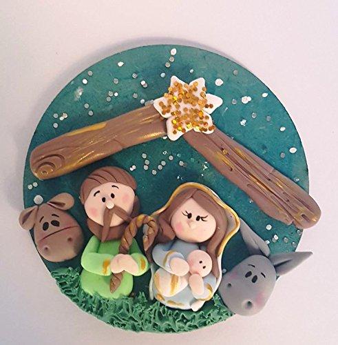 Belen Pesebre Iman Realizado a mano en Porcelana fria Navidades