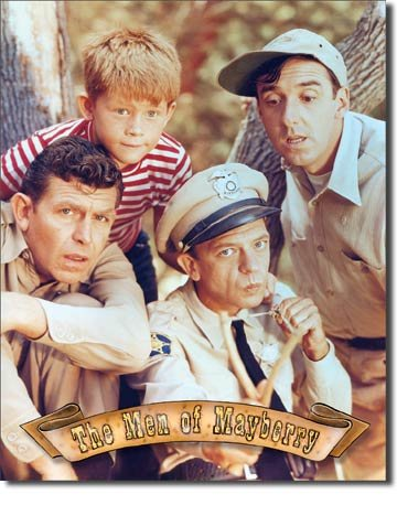 The Men of Mayberry Painted on Metal