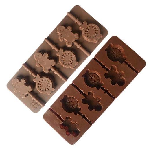 Wonderfulwu Candy - Molde de Silicona para paletas de golosinas ...