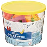 Learning Resources Jumbo Uppercase Magnetic Letters, Set of 40 - LER0450