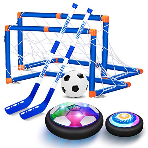 VEPOWER 2 in 1 Hover Hockey Soccer Boys Girls Toys Sport Set