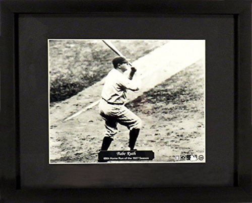 "New York Yankees Babe Ruth ""60th HR in 1927"" 8x10 Photograph (SGA Value Series) Framed"