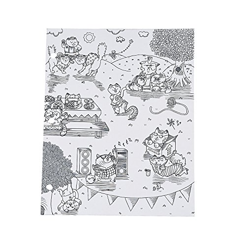 American Crafts? Adult Coloring Kitty Karaoke Pocket Folders - Pocket Karaoke