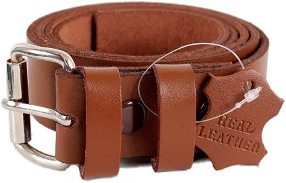 Geniune Leather Snap On Quality Belt Brown