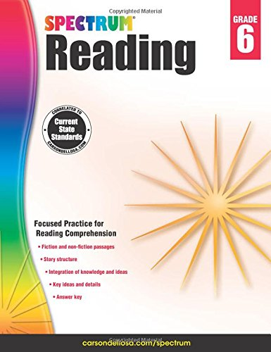 Spectrum Reading Workbook Grade 6