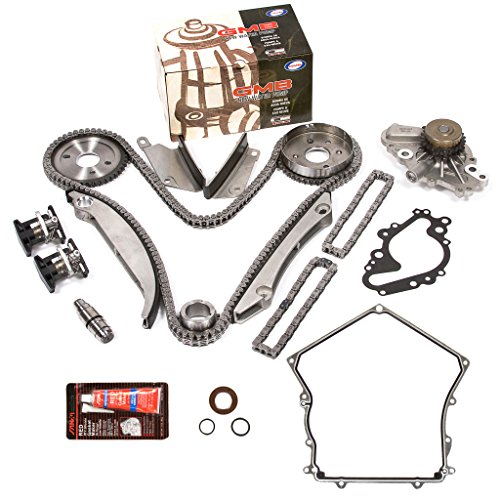 Evergreen TKTCS5027HWP2 00-04 Dodge Chrysler 2.7L Timing Chain Kit Water Pump (SBEC cam gear) Timing Cover Gasket (Cover Timing Upper Gasket)