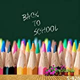 5x7ft Vinyl Crayon Color Pencil Back to School Photography Studio Backdrop Background