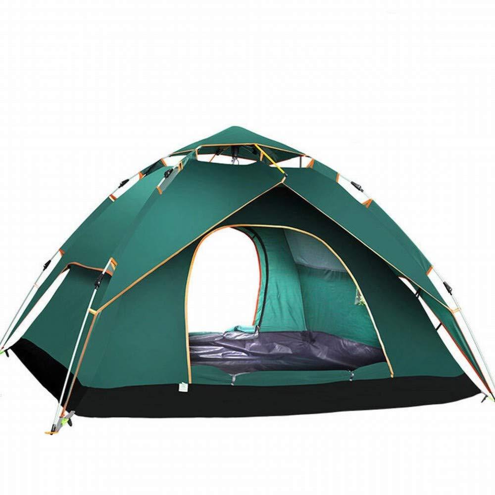 C.N. Aventure Tente extérieure Automatique Rainproof extérieure Double Tente de Camping construite Libre,Vert Olive,1