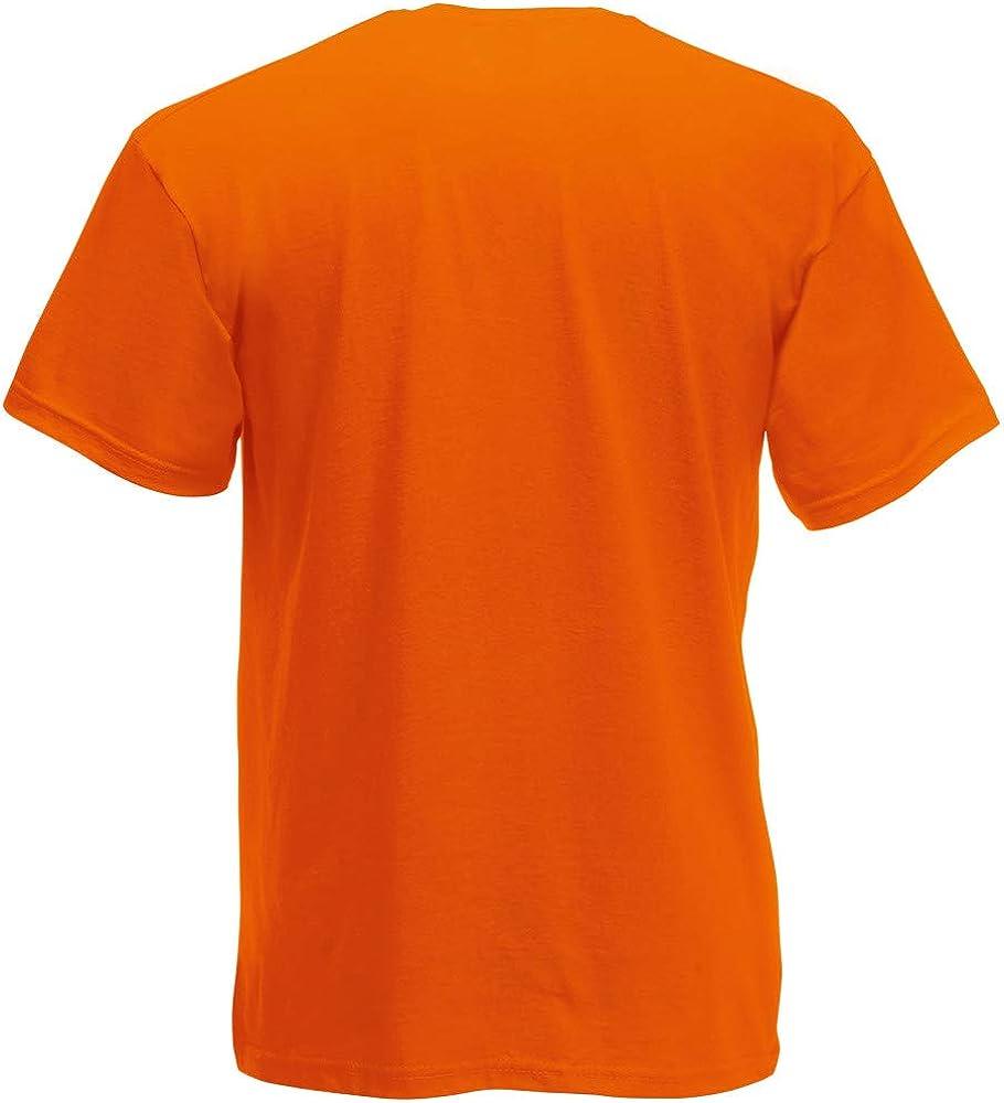 Fruit of the Loom - Camiseta Básica de Manga Corta de Calidad diseño Original Hombre Caballero (Grande (L)) (Naranja): Amazon.es: Libros