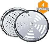 Gejoy Mosquito Coil Holder Tin Sandalwood Incense Coil Burner Metal Insect Repellent Rack with Cover (4)