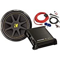 Kicker 42KCB12512 Bass Starter Package (Amplifier+Subwoofer+Amp Kit)