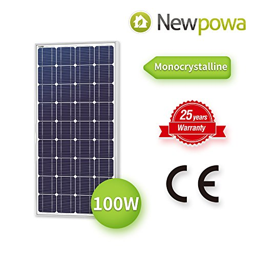Newpowa 100 Watt Monocrystalline 100W 12V Solar Panel High Efficiency Mono Module RV Marine Boat Off (Solar Module Efficiency)