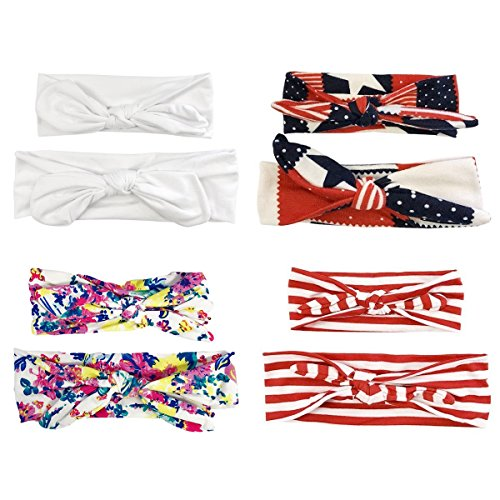 Allydrew Mommy & Me Headbands (set of 4), Patriotic (Patriotic Set)
